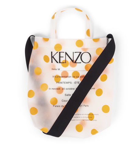 Transparent Bag with Orange Dots