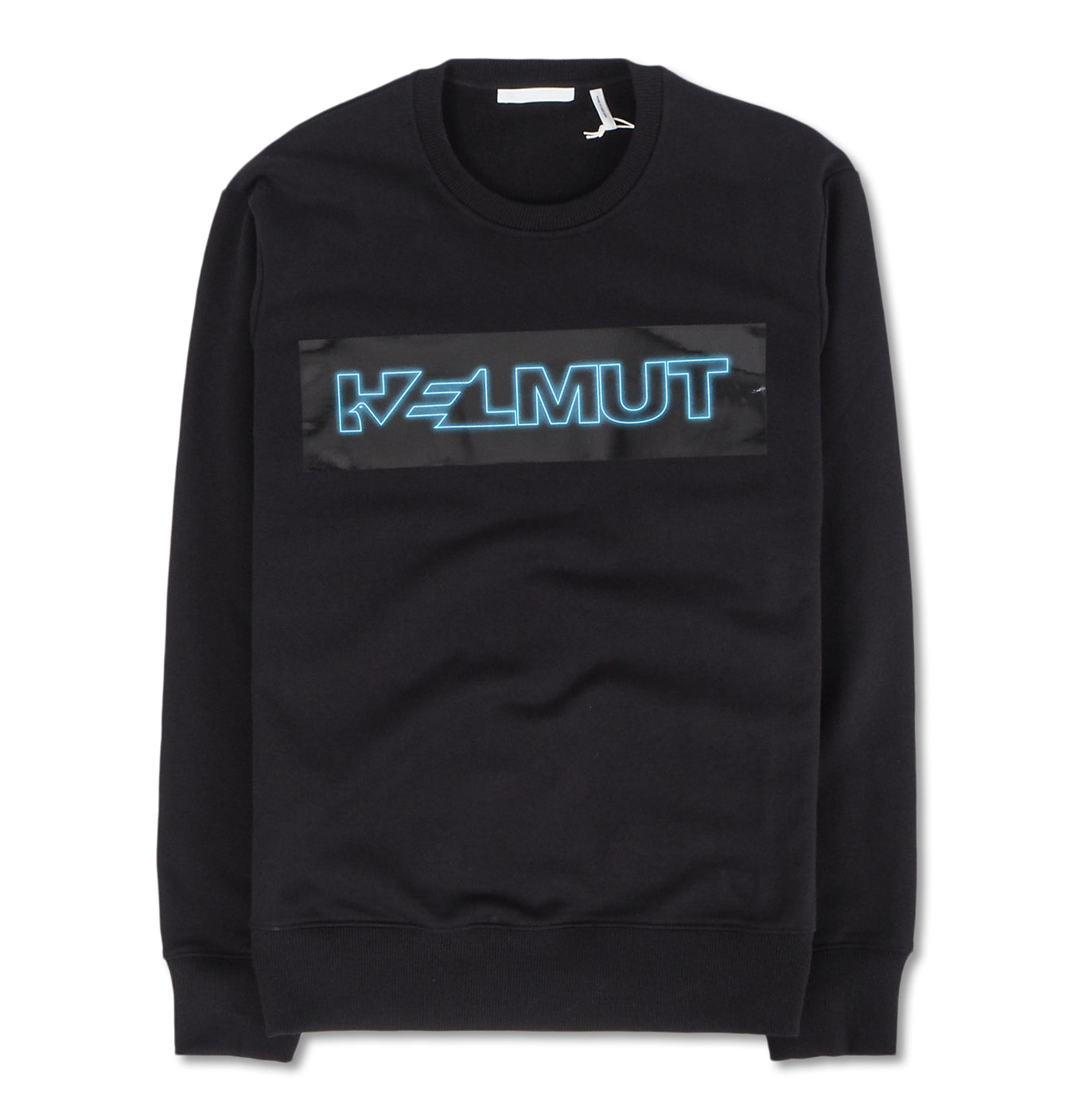 Image of   Helmut Lang Sweatshirt Blue Logo Black