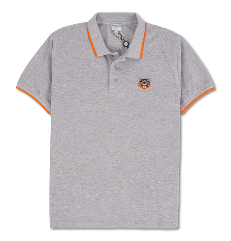 Fit Tiger Crest Polo Grey