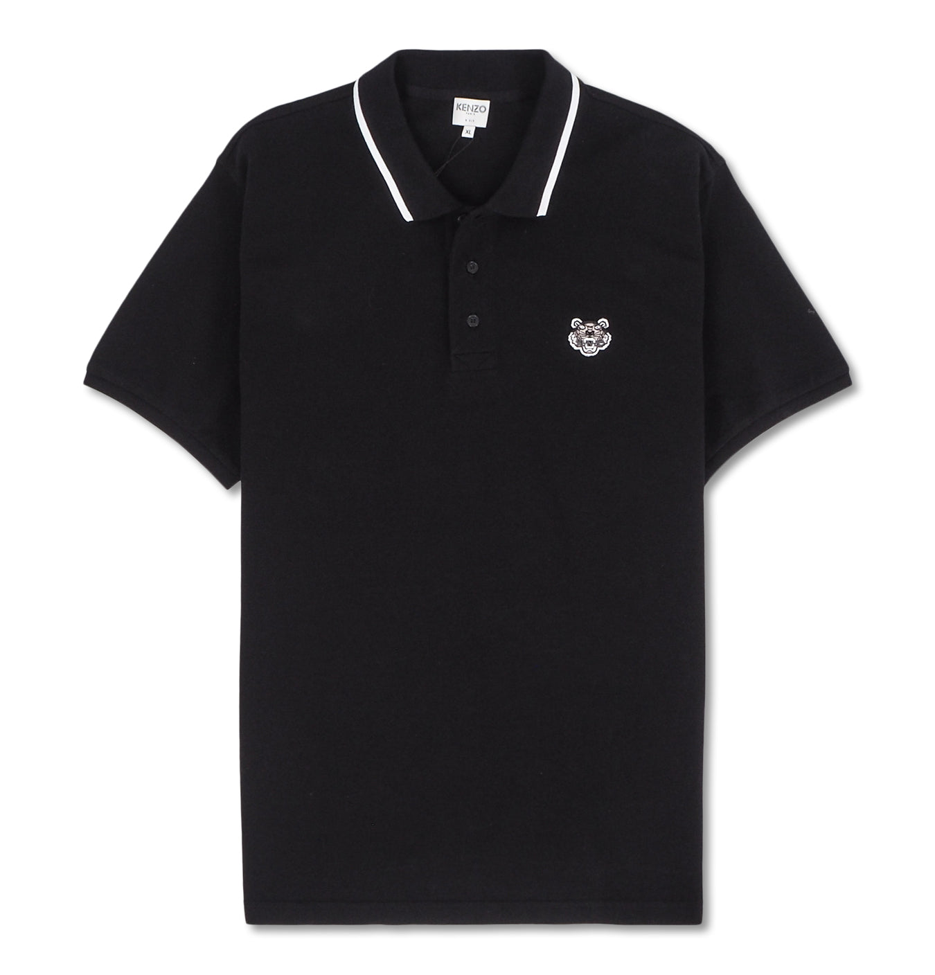 Image of   Fit Tiger Crest Polo Black
