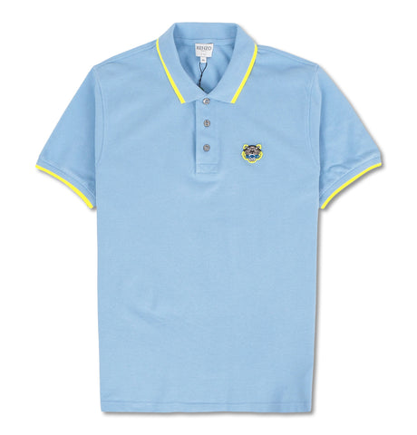 Fit Tiger Crest Polo Blue