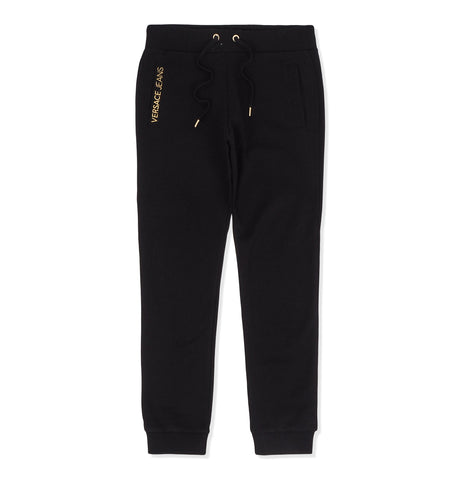 Round Gold Embroidered Sweatpants Black