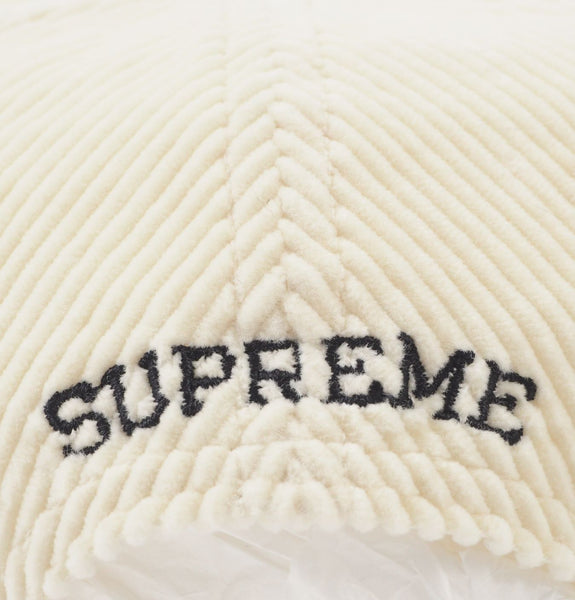 Corduroy 6-Panel White