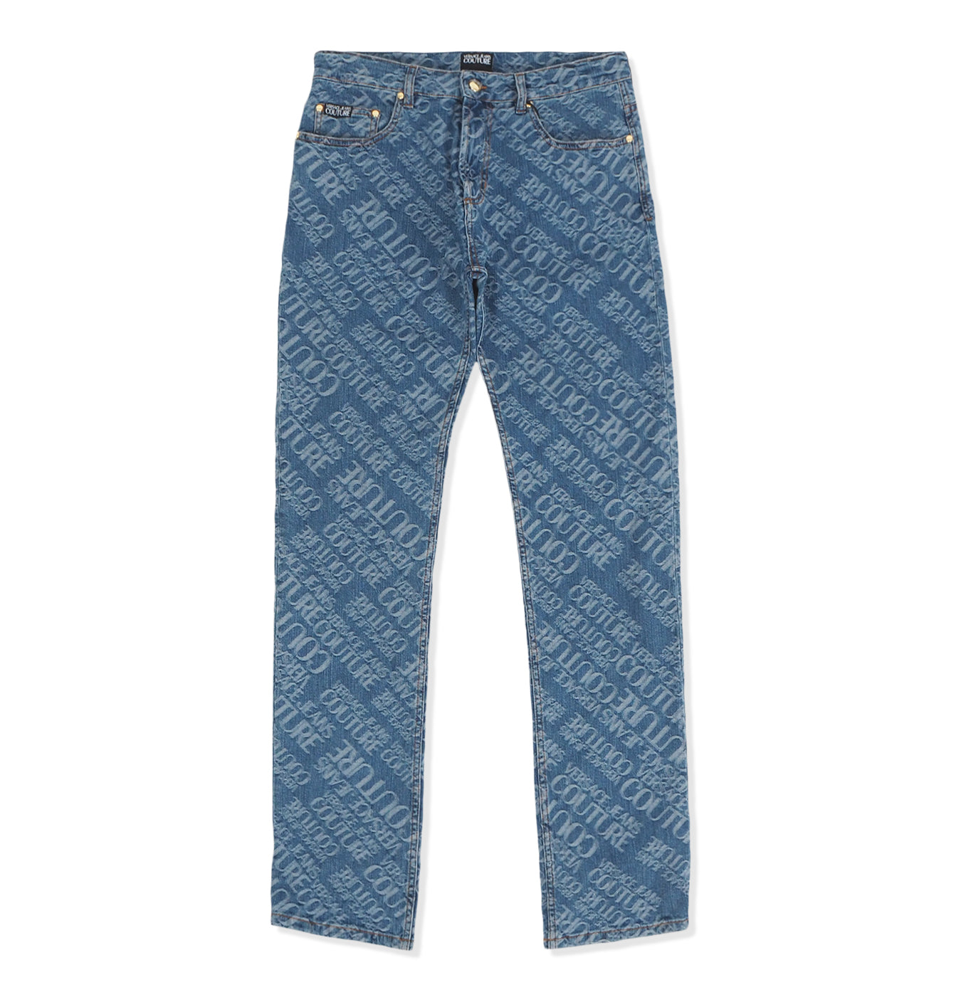 Image of   Denim Logo Pants Blue