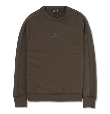 PS Paul Smith - Mens Reg Fit Panel Sweatshirt Green