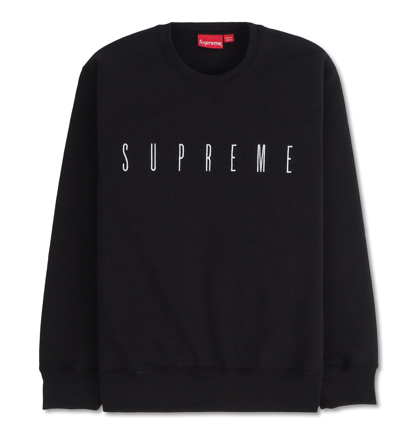 "Image of   Supreme ""Fuck You"" Crewneck Black"