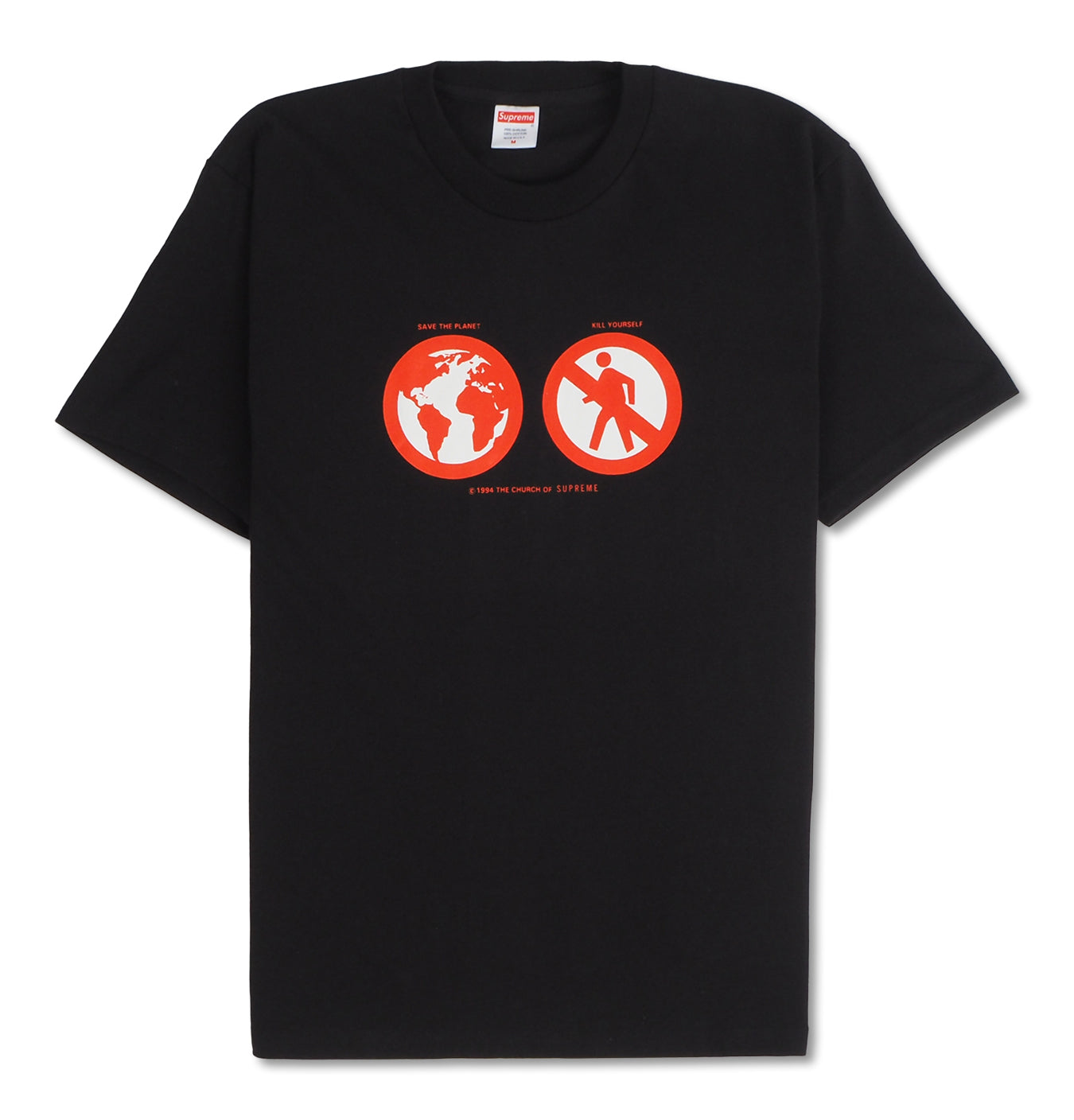 Image of   Supreme Save The Planet Tee Black