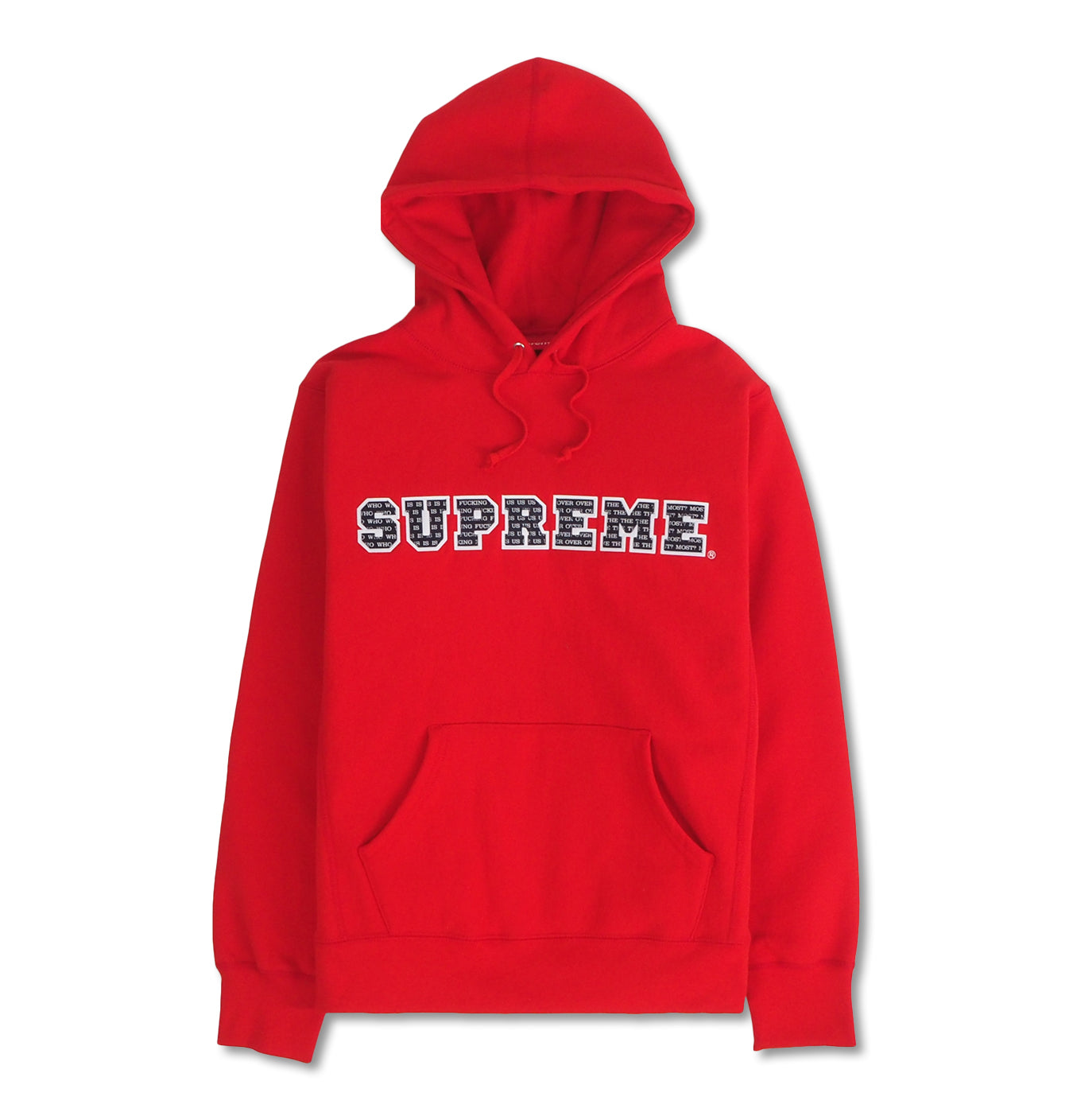 Image of   Supreme The Most Hooded Sweatshirt Red