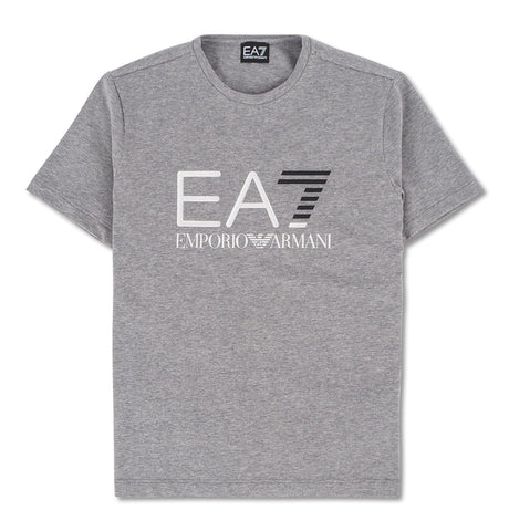 EA7 Black Silver Logo T-Shirt Grey