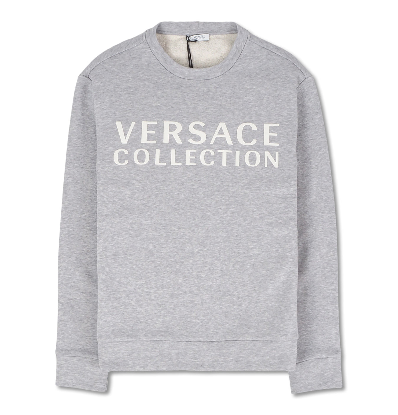 Image of   Grey Sweatshirt with White Logo Print
