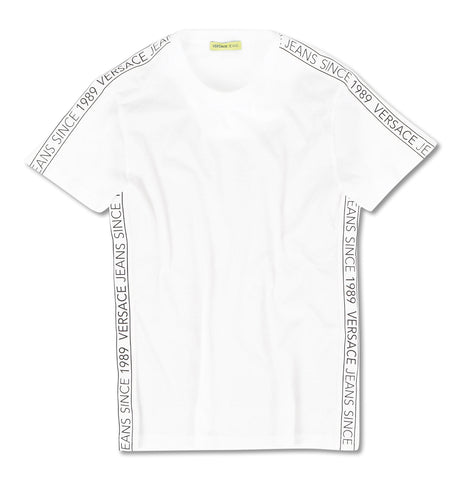 Taped Logo Jersey White