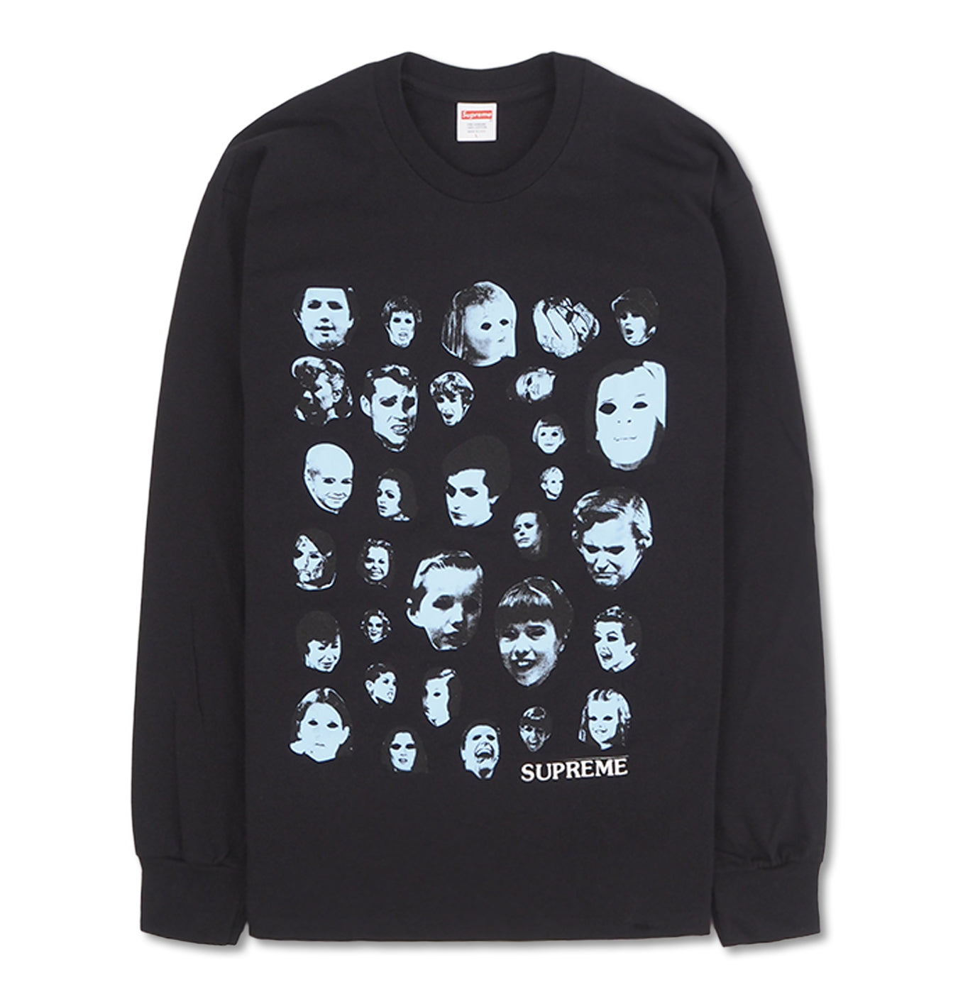 Image of   Supreme Longsleeve Tee Faces Black