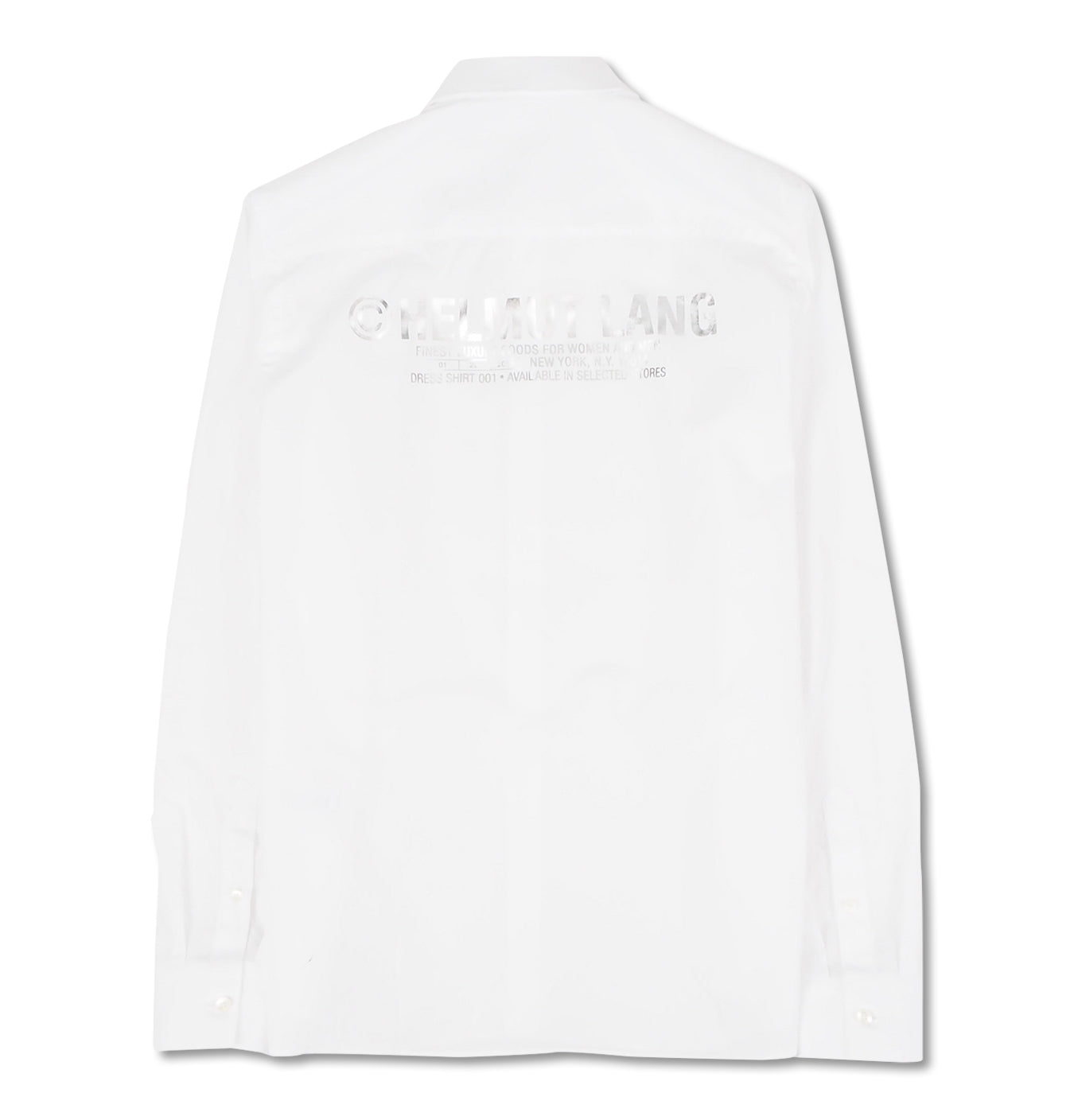 Image of   Helmut Lang Shirt Silver Print White