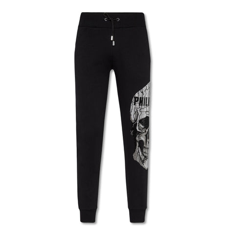 Jogging Trousers Skull Strass Black