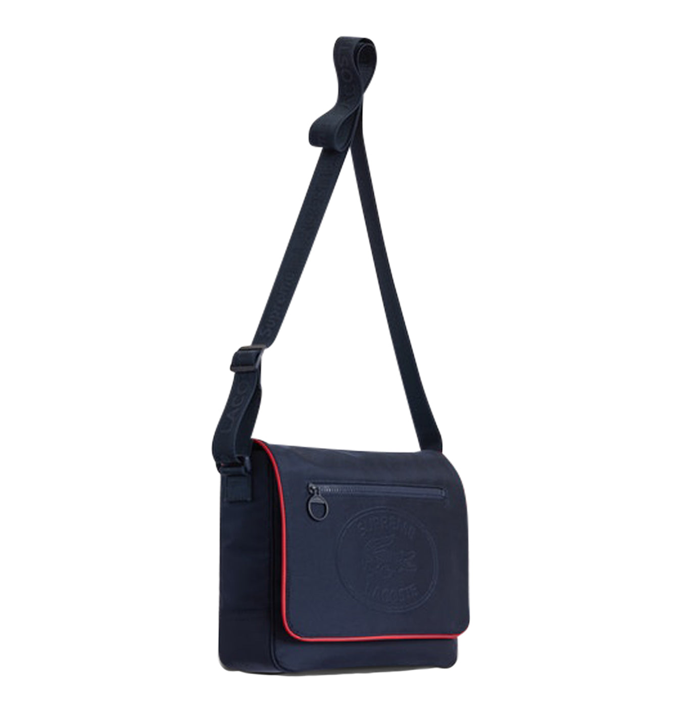 Image of   Supreme X Lacoste Messenger Bag Navy