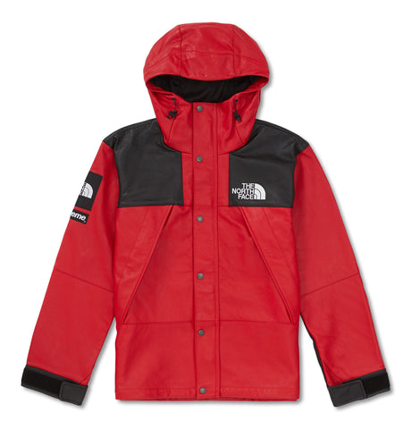 Supreme X The North Face Leather Mountain Parka Red