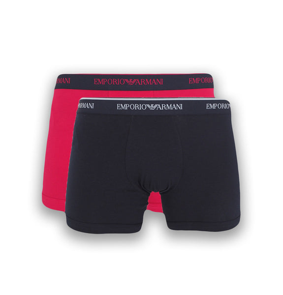 2 pack boxer, brief pink/black