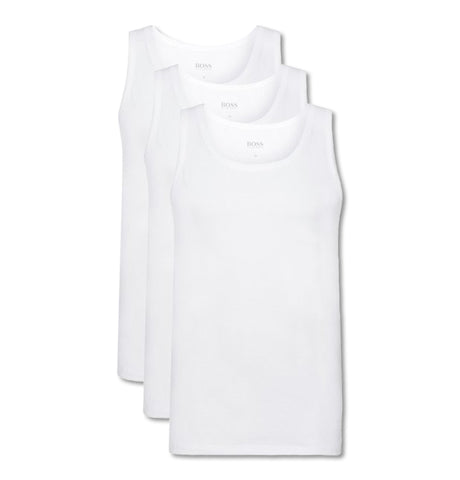 Triple Pack of Regular Fit Cotton Vests White