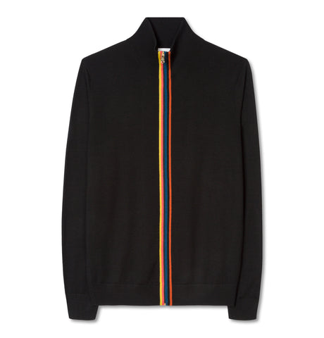 Paul Smith - Pullover Cardigan Rainbow Zip Black