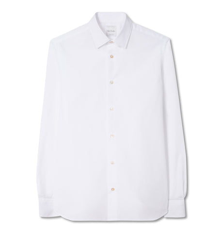 Gents S/C Tailored Shirt White