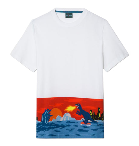 PS Paul Smith - Mens SS Reg Fit T-Shirt Flaming Dino