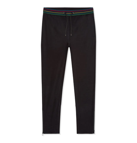 Mens Jogger Multi Stripe Black