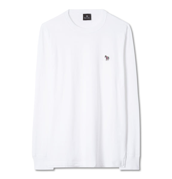PS Paul Smith - ReYellowar Fit LS Zebra T-Shirt White