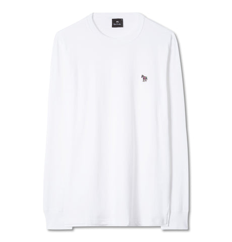 Regular Fit LS Zebra T-Shirt White
