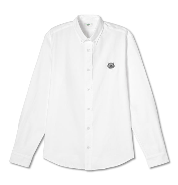 Kenzo Tiger Crest Shirt Cotton Twill