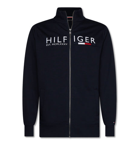 Tommy Hilfiger Logo Zip Through Sweatshirt