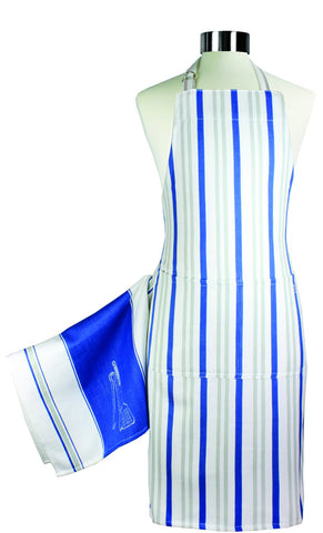 MUkitchen ultimate magnetic apron & towel set, Blue