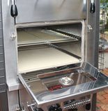 EcoQue Wood-Fired Pizza Oven & Smoker GENERATION 2! w/ Stainless Steel Cart