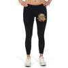 Floral Skull 03 - Legging - Full Length And Capri