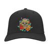 Floral Skull 03 LADIES Port Authority Flex Fit Twill Baseball Cap