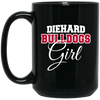 Diehard Bulldogs Girl 15 oz. Black Mug
