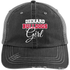 Diehard Bulldogs Girl Ladies' Distressed Unstructured Trucker Cap
