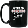 Diehard Sooners Girl 15 oz. Black Mug
