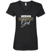 Diehard Michigan Girl Ladies' V-Neck T-Shirt