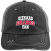 Diehard Bulldogs Fan Mens' Distressed Unstructured Trucker Cap