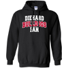 Diehard Bulldogs Fan Mens' Pullover Hoodie 8 oz.