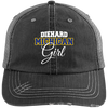Diehard Michigan Girl Ladies' Distressed Unstructured Trucker Cap