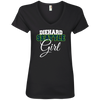 Diehard Seattle Girl Ladies' V-Neck T-Shirt