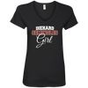 Diehard Seminoles Girl Ladies V-Neck T-Shirt