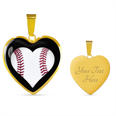 Love Baseball Heart in Heart