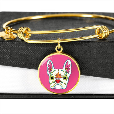 Sugar Skull Dogs 04 Bangle Bracelet