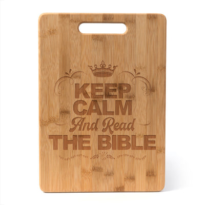 Keep Calm - Cutting Board - Bamboo