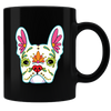 Sugar Skull Dogs 04 Coffee Mug - Black