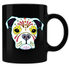 Sugar Skull Dogs 05 Coffee Mug - Black