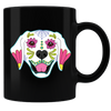 Sugar Skull Dogs 03 Coffee Mug - Black