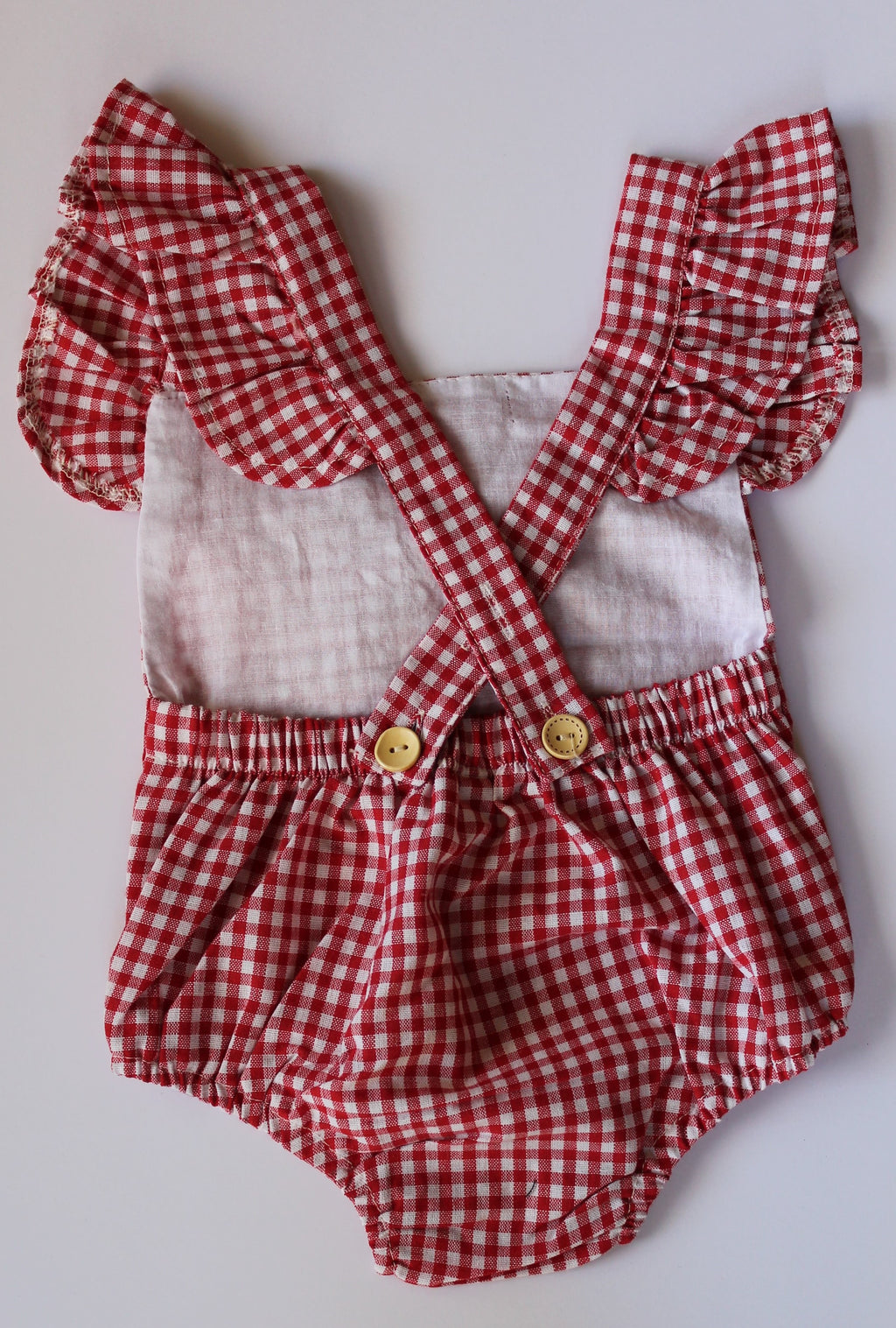 Gracie Gingham Romper